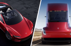 tesla roadstar ve semi